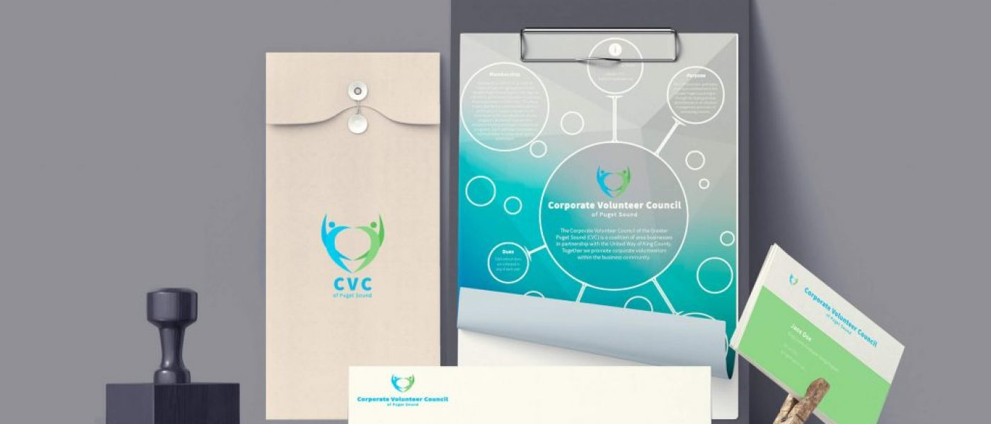 Corporate Volunteer Council of Puget Sound Branding Identity Collateral
