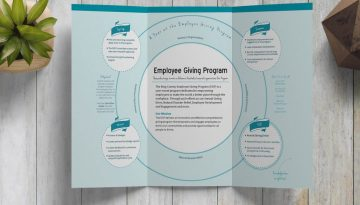 King County Employee Giving Program Brochure Inside View