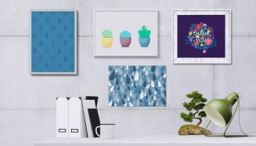 NS Design Graphic Designs In Frames On Wall