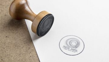 NS Design Pasta Anita Identity Logo Stamp on Paper