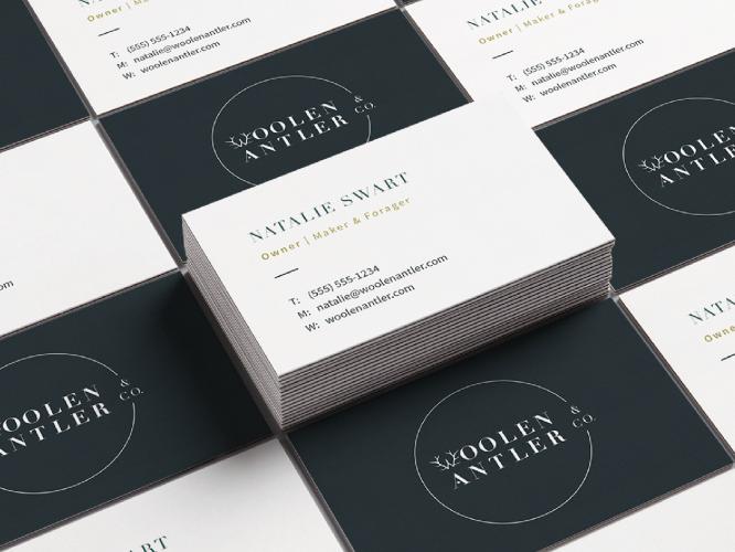 Woolen-Antler-Brand-Business-Cards